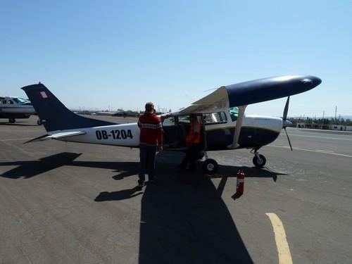 Met een vliegtuigje over de Nazca lijnen
