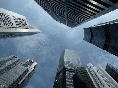 Wat je ziet als je omhoog kijkt in Singapore