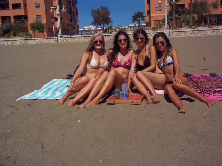 tanning with my girls! | Lauren's Summer 2011 Trip to Spain | STA ...
