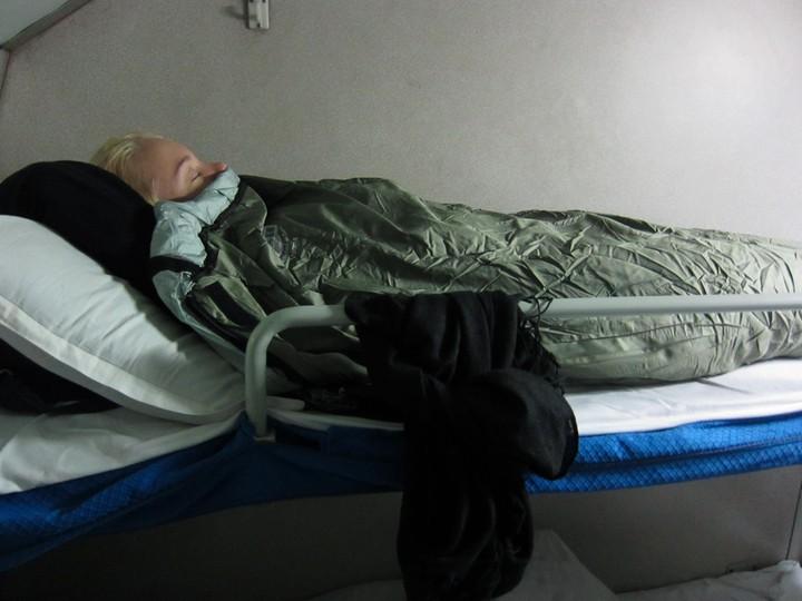 Hard sleeper -paikkojen ylin eli 3. kerros