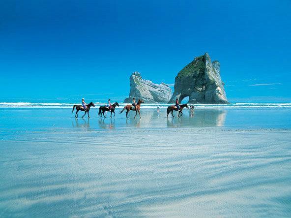 Horse riding at Pakiri Beach