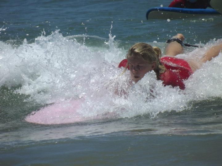 Uhh brættet dykker ned i vandet! :(
