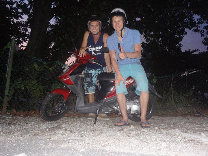 Scooter ride in Penang