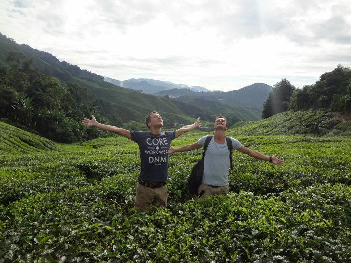 The Cameron highlands, een van de thee plantages:D