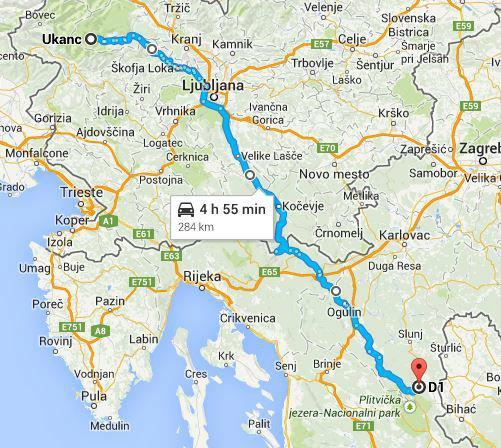Turen från Slovakien till Kroatien