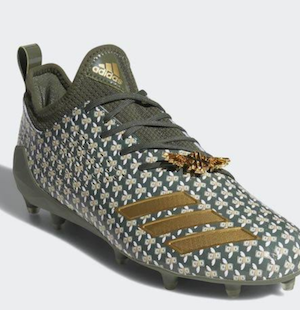 Cleats with metal