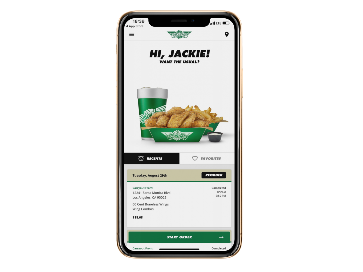 Wingstop ios 1