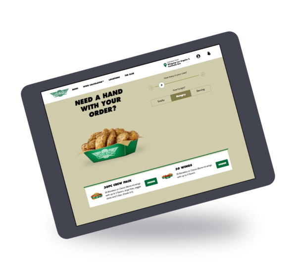 Ordering Wingstop ipad 35