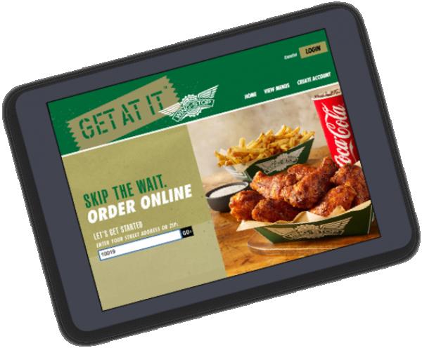 Ordering Wingstop Ipad