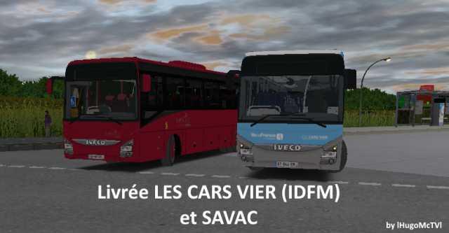 Livrée Les Cars Vier (IDFM) et SAVAC