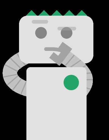 Illustration d'un robot qui réfléchit