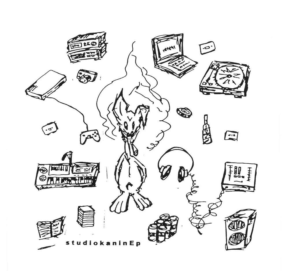 Studiokanin - Vita Tassar Svart Vinyl (Instrumentals)