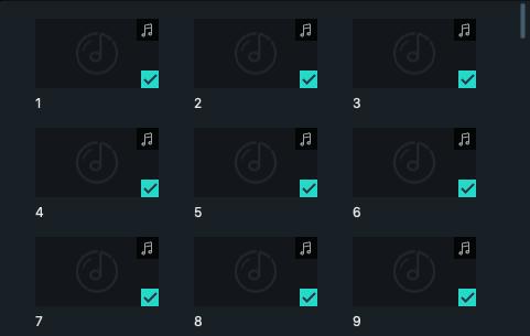 File audio diatur dalam urutan numerik