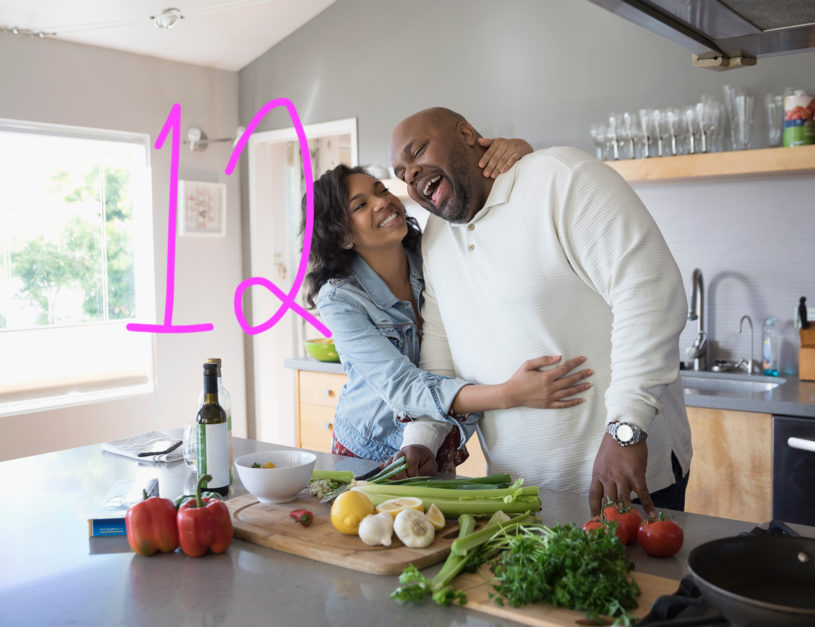 Couple in kitchen 2x2