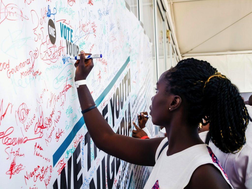 Over 85,000 people signed ONE's Youth Declaration.