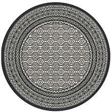Tepih Essenza 120 cm crni