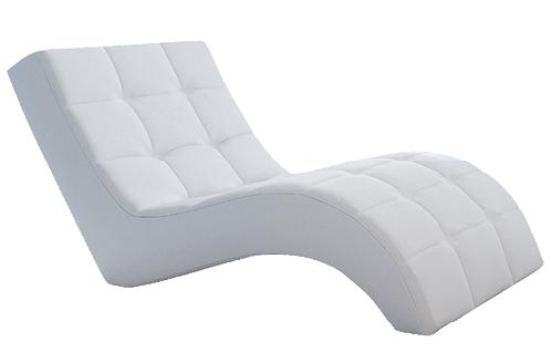 Fotelja Laguna 76 x 170 x 83 cm bela eko koža