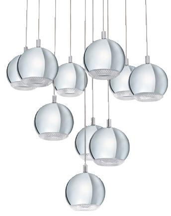Viseća svjetiljka Conessa 10 x LED GU10 (e. klasa A++ do E)