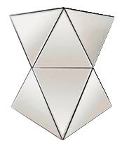 Stalak Mirror 40 x 40 x 50 cm ogledalo