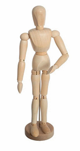 Dekoracija drvena lutka Wooden doll