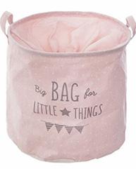 Korpa za odlaganje Little Things 38 x 38 cm roze