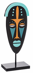 Dekoracija Wood Mask 13,2 x 8 x 35 cm