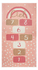 Tepih Hopscotch 80 x 150 cm roze