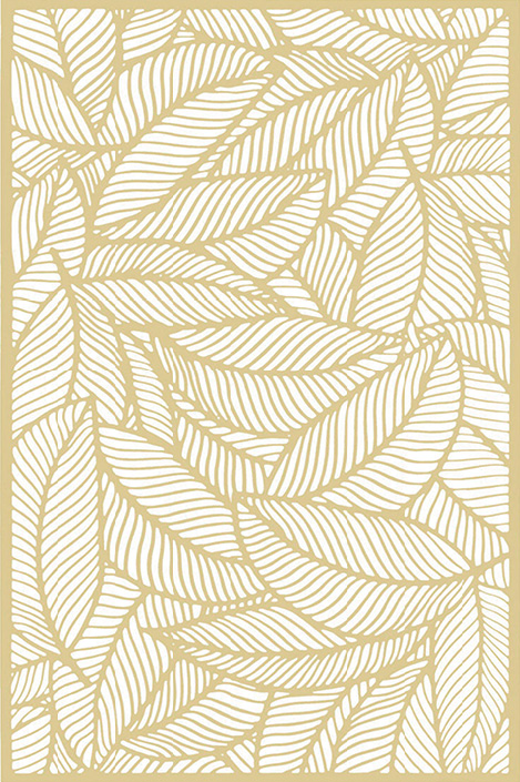 Podmetač Jungle 45 x 30 cm zlatni