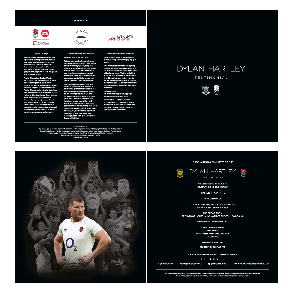 Dylan Hartley Testimonial sales flier