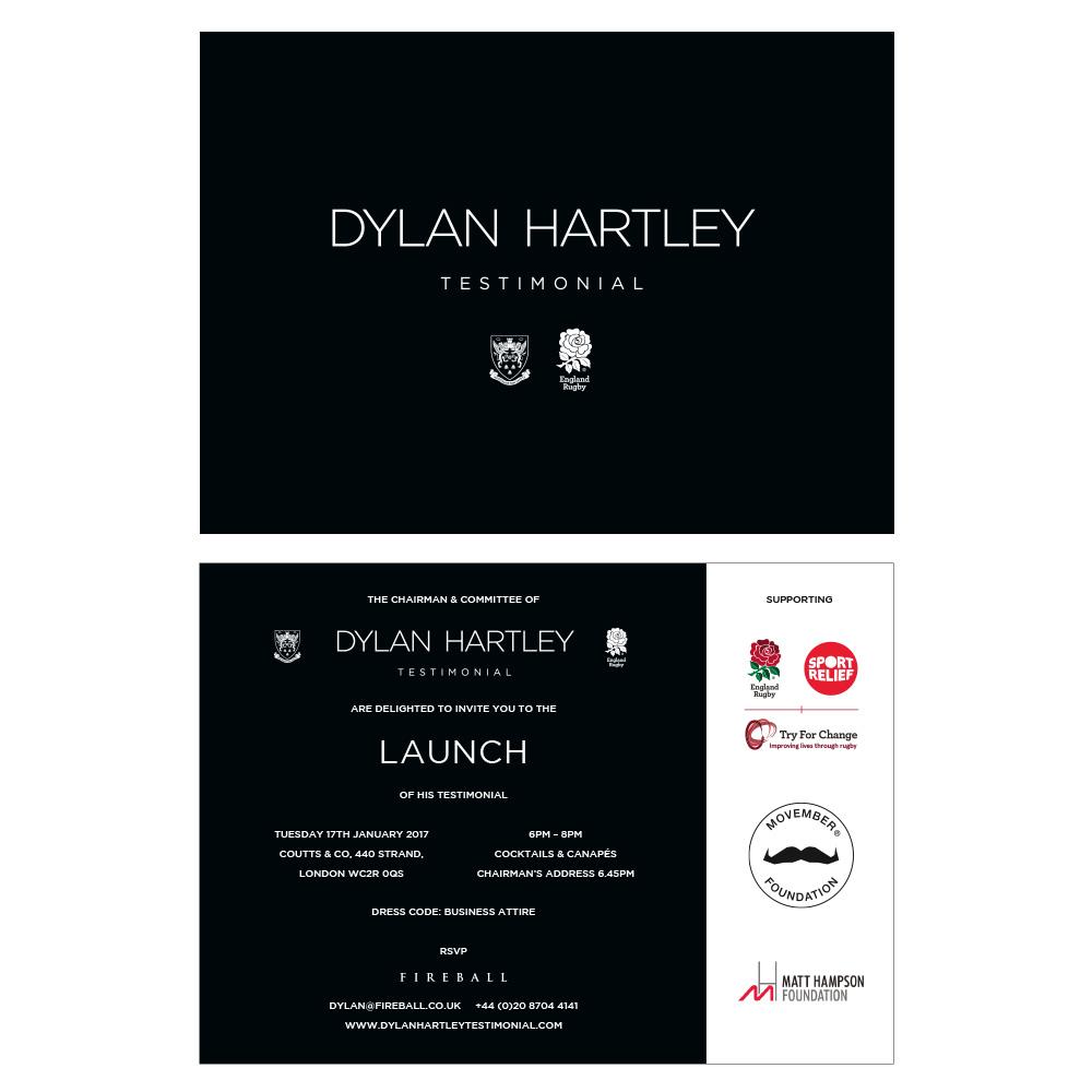 Dylan Hartley Testimonial invitations