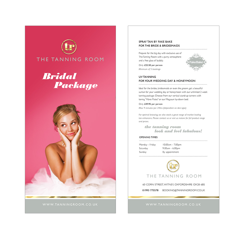 The Tanning Room offer leaflet