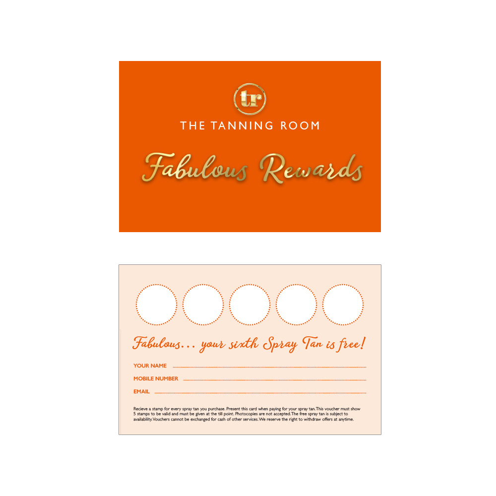 The Tanning Room loyalty card