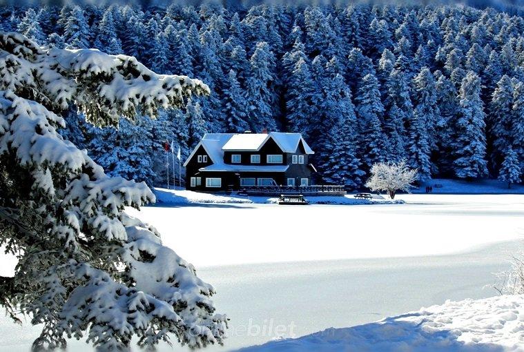 abant gölü kışın