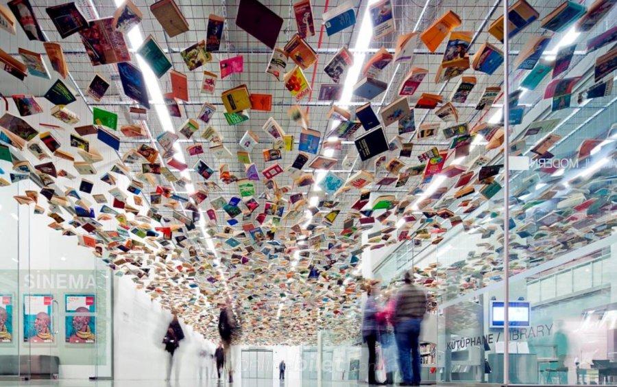 istanbul modern kütüphanesi