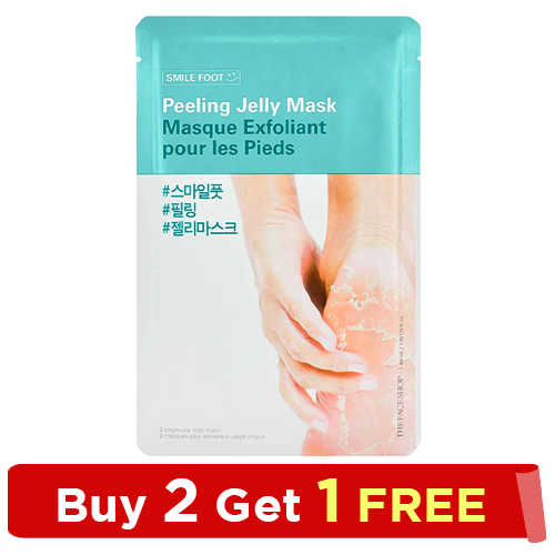 The Face Shop-SMILE FOOT PEELING JELLY MASK