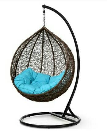 كرسي مرجيحة رتان – اسود MSWC-3