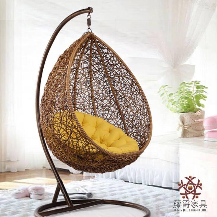 كرسي مرجيحة رتان – بني MSWC-5
