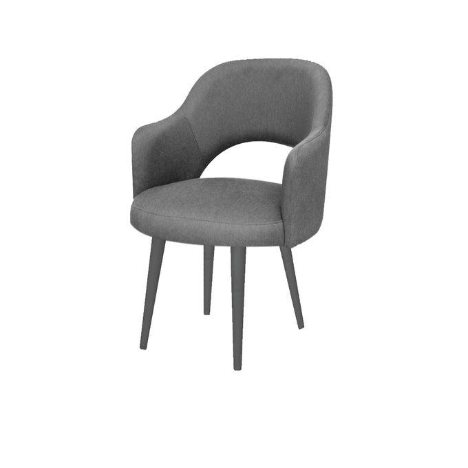 كرسي دومينو ثابت - رمادي ART-13