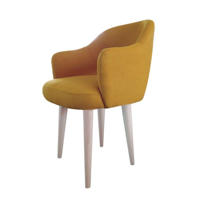 كرسي دومينو ثابت - اصفر ART-55