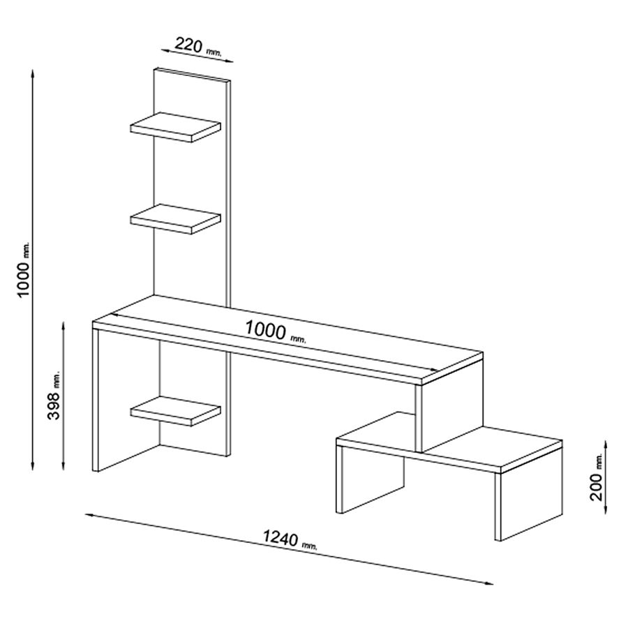رفوف وطاولة التلفزيون الانيقة