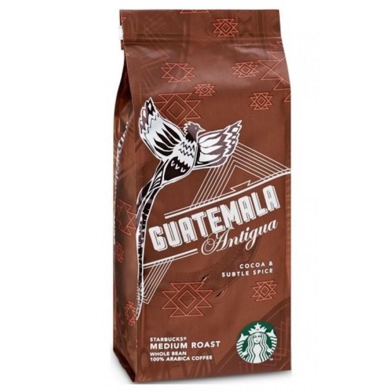 قهوة ستاربكس الغواتيمالي حبوب تحميصة وسط  250 غرام × 4 علب