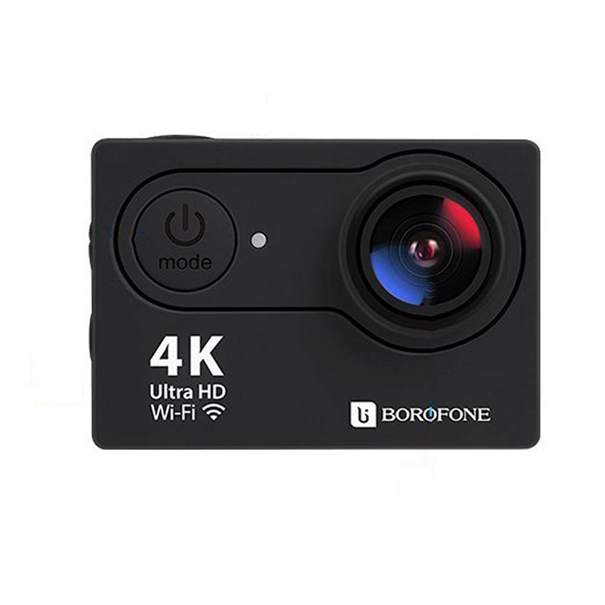 بوروفون- بي دي 1 اكشن كاميرا 4 كيه واي فاي 12 ميجا بيكسل-اسود
