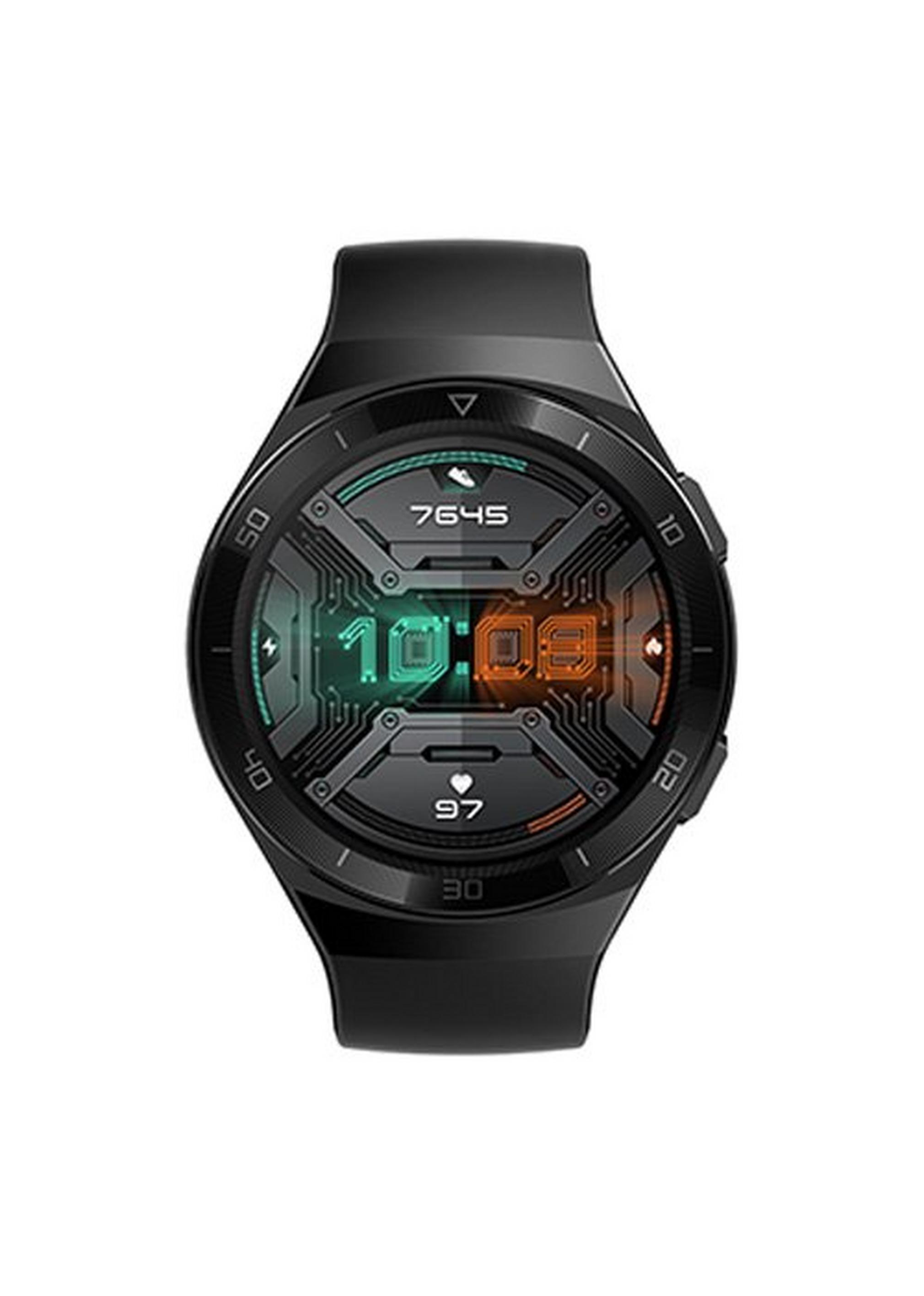 هواوي-ساعة جي تي 2 إي، 46 ملم، ستانلس ستيل-أسود