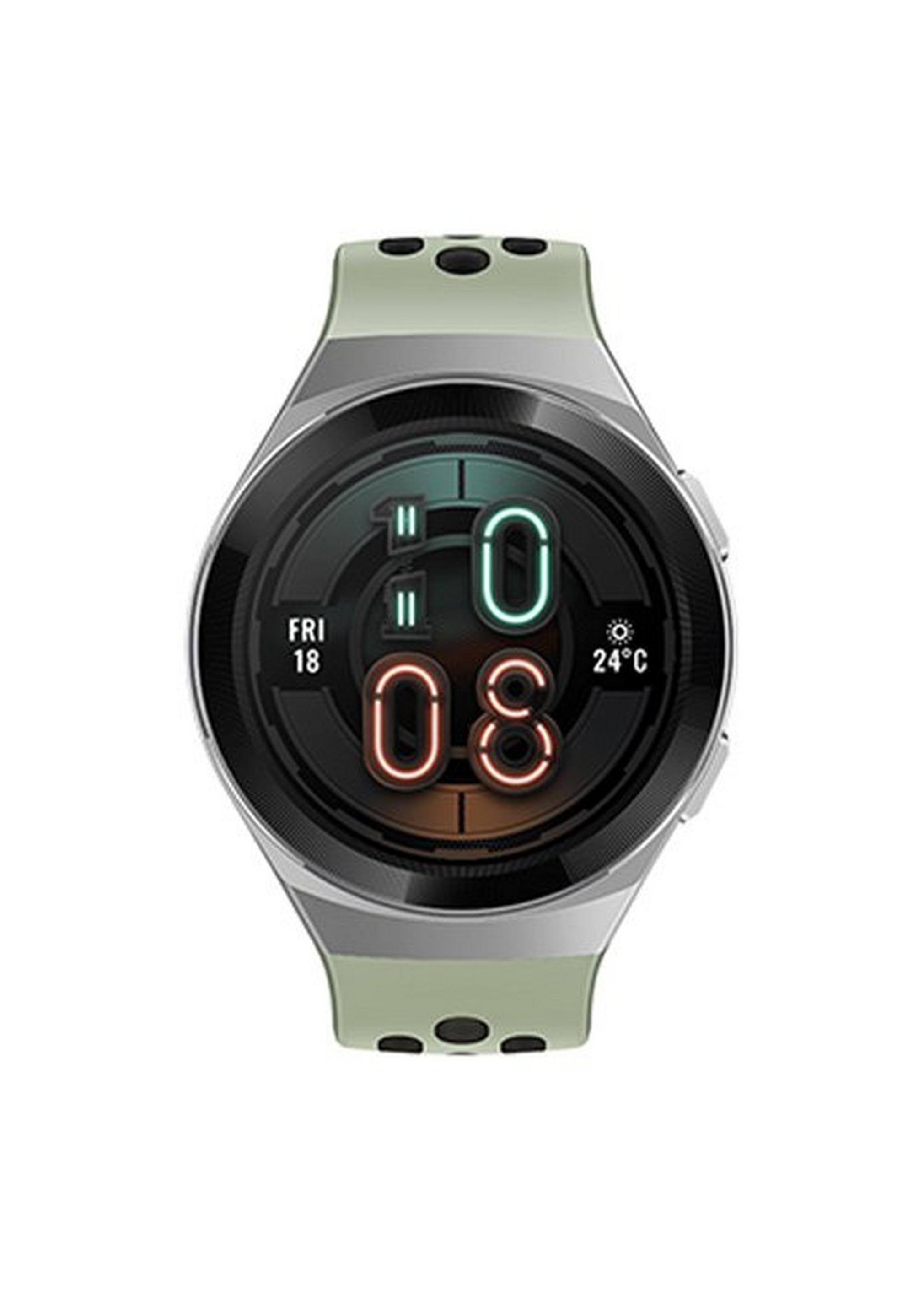 هواوي-ساعة جي تي 2 إي، 46 ملم، ستانلس ستيل-أخضر فاتح