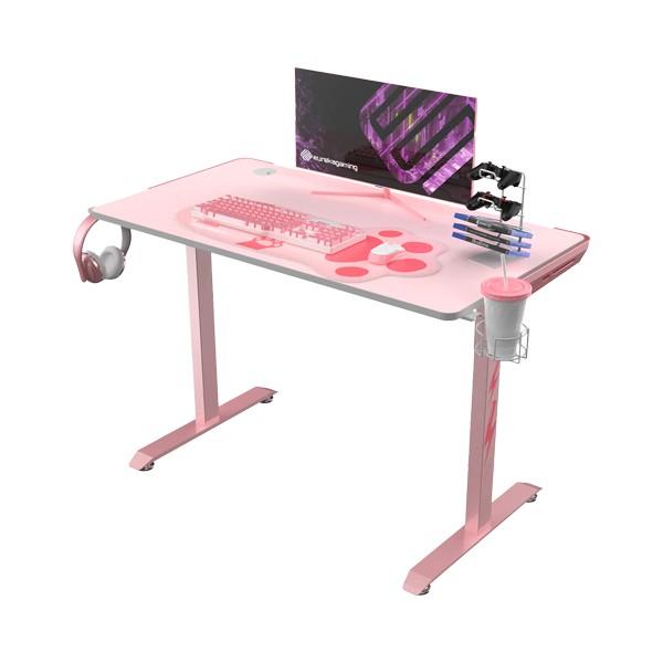 ايوريكا - طاولة حاسوب العاب قيمنق فينس 1S ٤٤ بوصة - وردي
