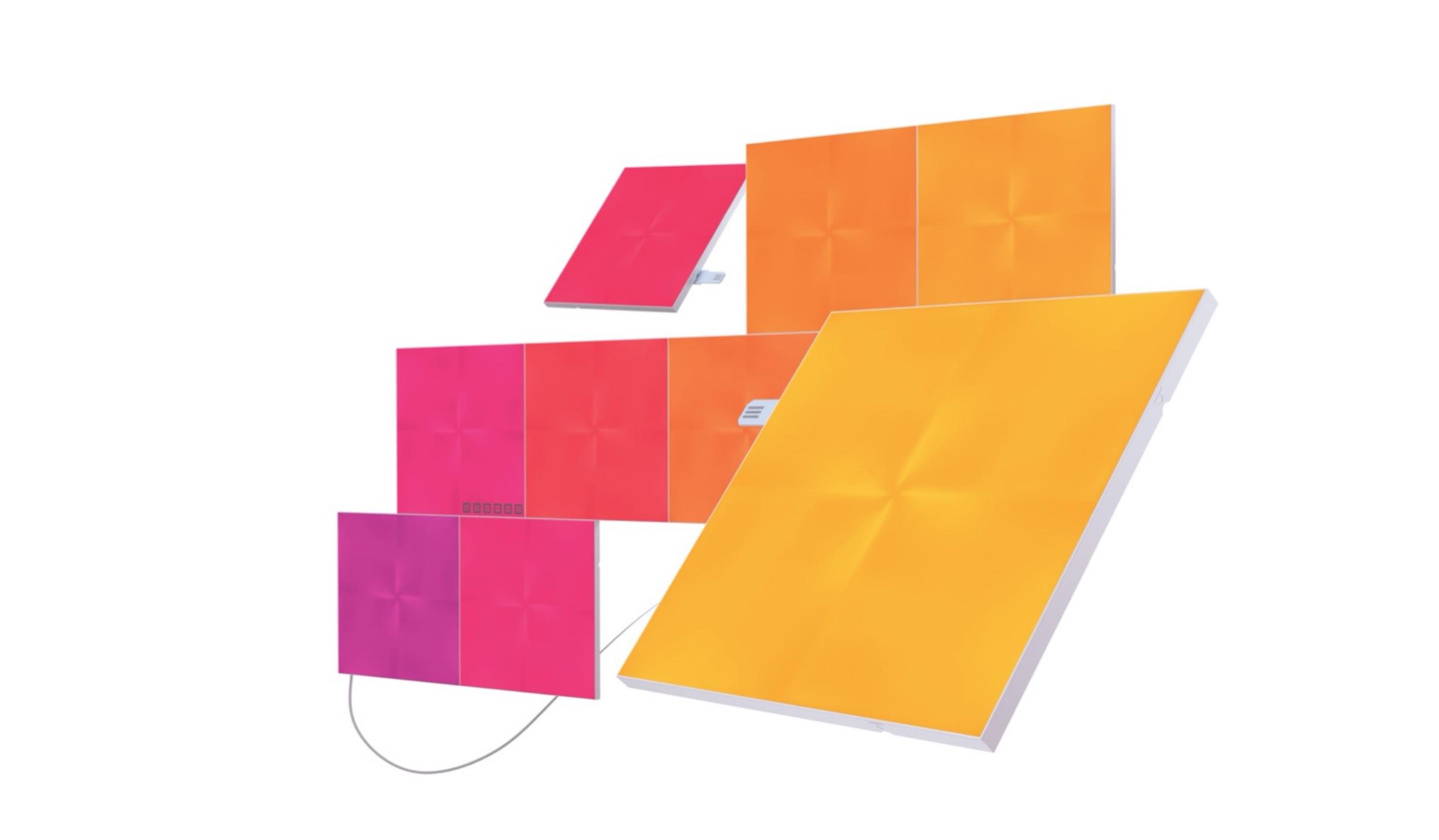 نانوليف-كانفاس الواح اضاءه  مربعة LED الذكيه-(9 حبات)