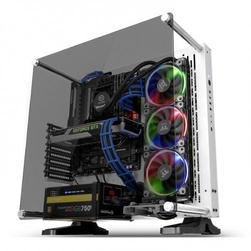 ثيرمال تيك – كور بي 3 زجاج مقوى اصدار Snow  ATX – اطار مفتوح – ابيض