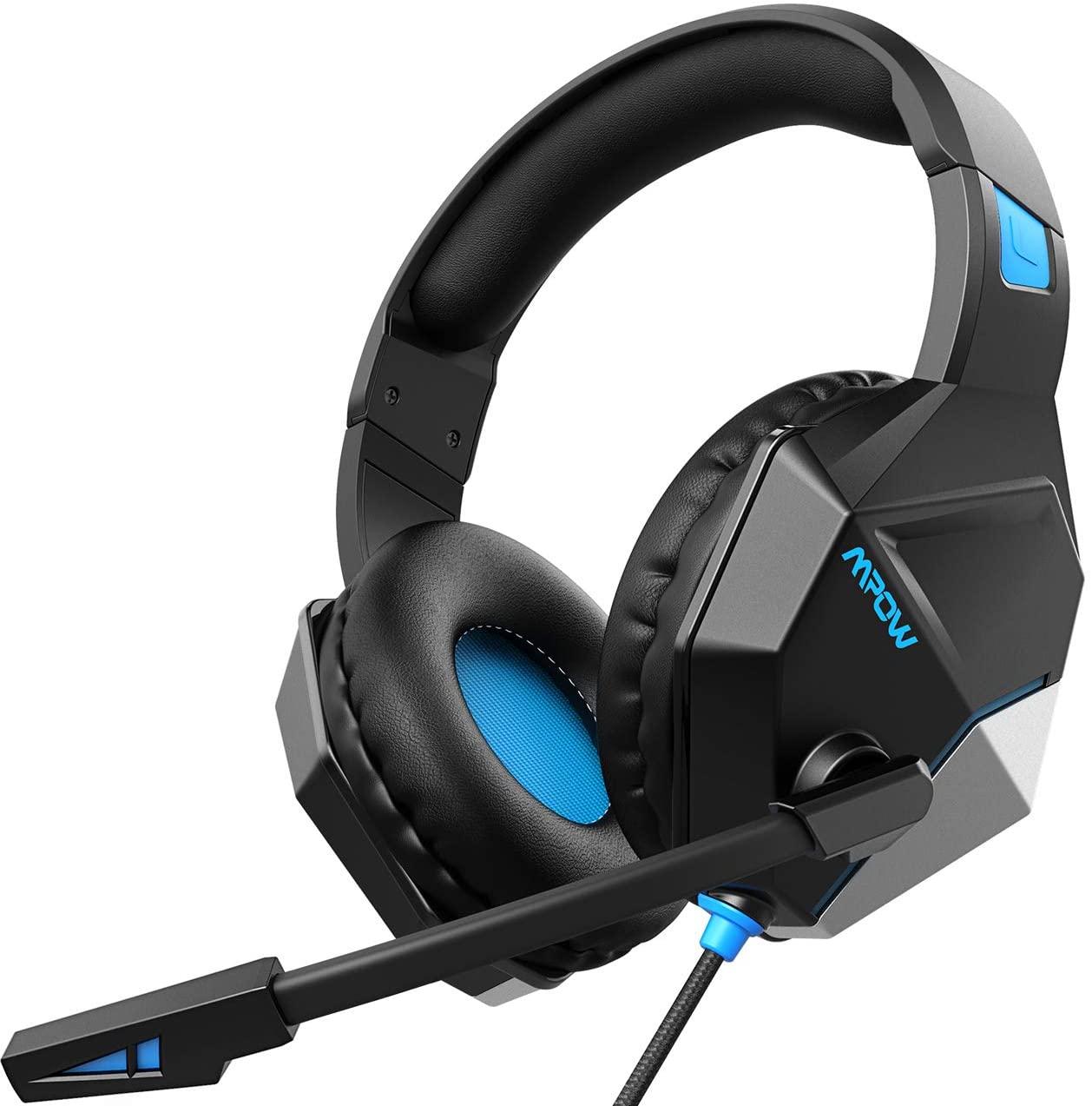 افضل سماعات قيمنق امباو-EG10 سماعة قيمنق السلكية لأجهزة PS5 و PS4 و PC و Xbox One - أسود + أزرق