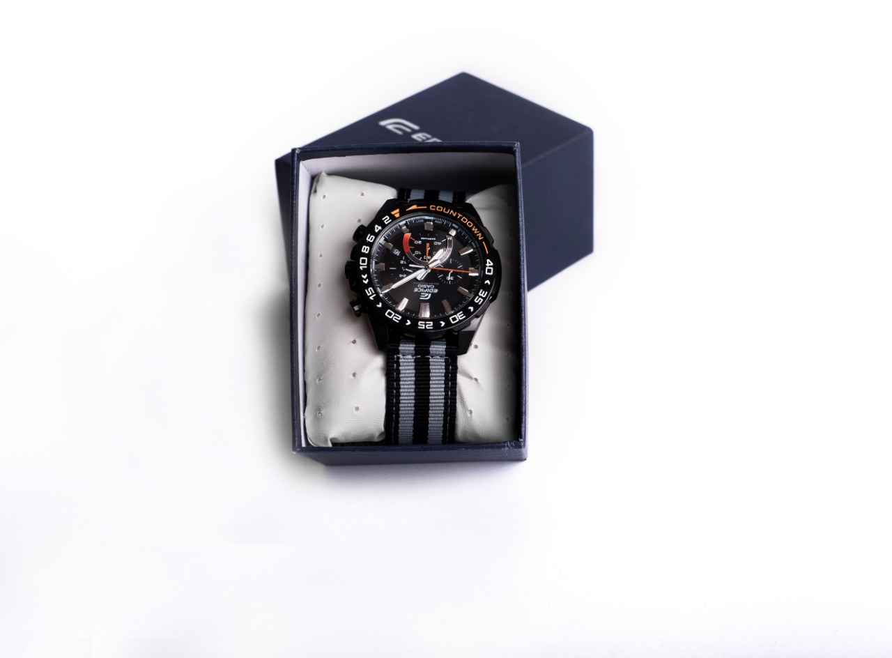 CASIO EDIFICE SOLAR POWERED FOR MEN, DATE DISPLAY, WATER PROOFING