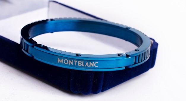 مونت بلانك الذي لا يصدأ اسورة من الستانلس ستيل للرجال